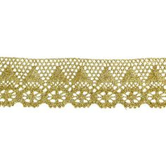 "Cluny Lace 2 1/8"" Metallic Gold Per Yard - PATCHWORK PANDA LLC"
