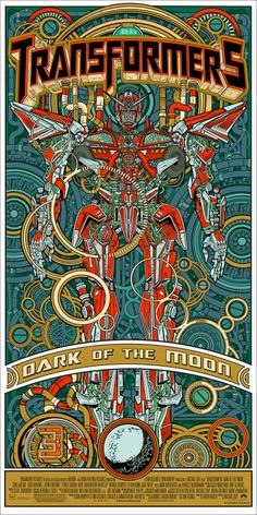 Transformers Dark Side of the Moon (2) Art Poster by Tyler Stout & Jessie Phillips