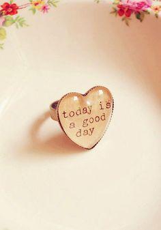 Love Heart Affirmation Ring