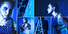 Into the Blue on Behance - MA fashion collection 2015 Blue Photography, Behance, Fashion Project, Fashion Illustrations, Videos, Concert, Model, Projects, Collection