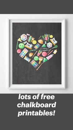 Crafts To Sell, Home Crafts, Diy Crafts, Diy Craft Projects, Craft Gifts, Printable Wall Art, Make Your Own, Chalkboard, Artsy