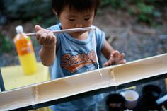 Nagashi Somen by kitsune-kun via the kitchn: The Japanese summer tradition of eating noodles out of water streaming through a bamboo pipe. Here is the link to the video http://vimeo.com/47912950#  Thanks to @Elizabeth Silbermann! #Noodles #Japan #Nagashi_Somen