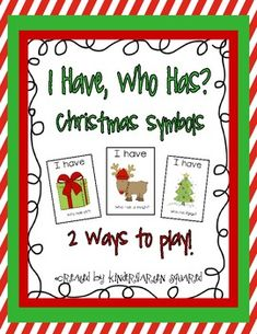 2 Ways to Play!   Game 1: Read the words or learn the pattern and use the words on the card. Student: I have Santa. Who has sleigh? Game 2: Say what you have. Then give clues about the word on bottom. Student: I have Santa. Who has a vehicle that Santa uses to deliver the gifts?