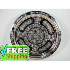 Patterned Round Serving Tray T