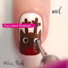 So Christmassy. Nail Art Designs Videos, Cute Nail Art Designs, Nail Art Videos, Simple Acrylic Nails, Bling Acrylic Nails, Diy Nails, Manicure, Christmas Gel Nails, Xmas Nail Art