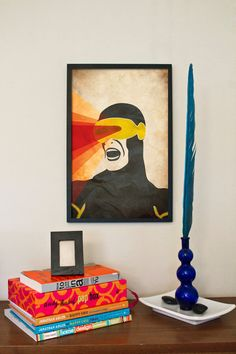 Cyclops - X-Men Comic Character Inspired Poster Series - 11x17 Retro Art Print. $18.00, via Etsy.
