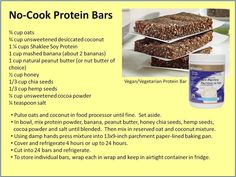 No cook protein bars using Shaklee Soy Protein powder