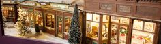 Great American Dollhouse Museum - A 1950's Christmas retrospective street of shops by artisans Jim and Barbara Bohlk.