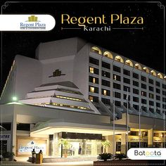 Regent Plaza Hotel & Convention Centre is a Karachi based luxury hotel having all the facilities for the great experience. Book from Batoota now. Pakistan Hotels, Plaza Hotel, Convention Centre, Mansions, Detail, Luxury, House Styles, Book, Life