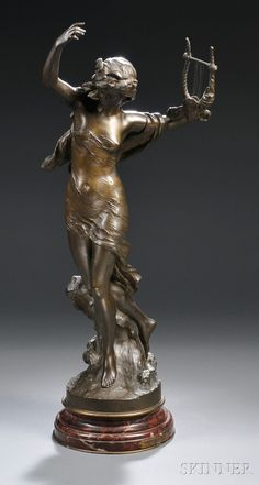 After Mathurin Moreau (French, 1822-1912) Danseuse a la Lyre | Sale Number 2631B, Lot Number 428 | Skinner Auctioneers