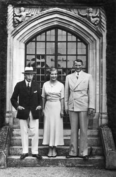 The Duke of Connaught with his granddaughter, Princess Ingrid, and her husband (Queen Ingrid and King Frederick IX of Denmark).