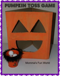 Momma's Fun World: DYI Pumpkin toss game