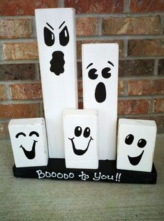 Halloween is an exciting festivity as this is the time of the year. Here are some Halloween decoration ideas you can try this year 2x4 Crafts, Fall Wood Crafts, Halloween Wood Crafts, Homemade Halloween Decorations, Theme Halloween, Outdoor Halloween, Halloween Projects, Holidays Halloween, Halloween Crafts