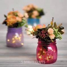 [New] The Best Crafts Today (with Pictures) - These are the 10 best crafts today. According to crafting experts, the 10 all-time best crafts right. Crafts With Glass Jars, Glass Bottle Crafts, Diy Bottle, Mason Jar Crafts, Mason Jar Diy, Bottle Art, Garrafa Diy, Diy Para A Casa, Small Glass Bottles