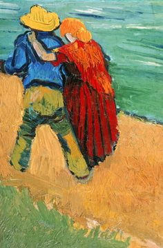 Vincent Van Gogh: Two Lovers (Fragment).  Oil on canvas.  Arles: March, 1888.  Private collection.