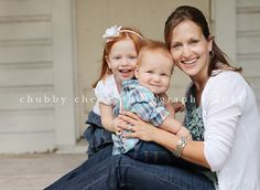 mother and kids pose - Chubby Cheek Photography