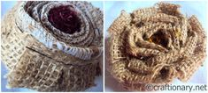 jute-burlap-flower-craft-tutorial- more flowers and how to make them