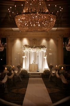 Browse our Indoor wedding photo gallery for thousands of beautiful wedding pictures. Find amazing wedding ceremony ideas and get inspiration for your wedding. Wedding Ceremony Ideas, Wedding Venues, Wedding Church, Backdrop Wedding, Wedding Stage, Wedding Favors, Wedding Reception, Glamorous Wedding, Trendy Wedding
