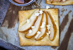 autumn pear and cheddar galettes  - a delicious way to use up over-ripe pears!
