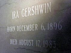Ira Gershwin (1896 - 1983) With his brother George, writer of Broadway musicals and other popular music