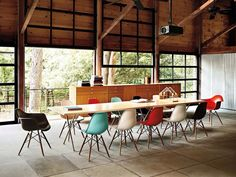 Colorful Charles Eams Chairs