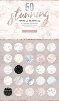 400 Gold & Marble Textures & More by Paper Lotus on Creative Market Rose Gold Texture, Marble Texture, Web Design, Graphic Design, Creative Design, Design Ideas, Paper Lotus, Gold Marble, Seamless Background