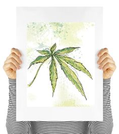 Cannabis art cannabis poster weed poster by MyDaisyDownloads