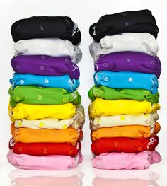 All in one cloth diapers.