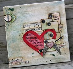 ...from Google search on altered art canvas theme...
