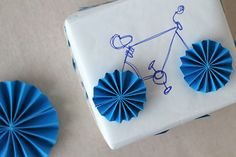 Take a break from the bows with this easy DIY bicycle gift wrap.