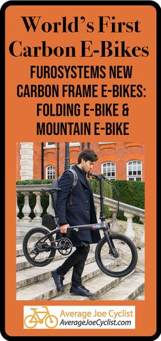 FuroSystems offers two new innovative, full carbon frame electric bikes, a folding e-bike and a mountain e-bike. Electric Bike Review, Best Electric Bikes, Cycling Workout, Cycling Gear, Bike Wagon, Child Bike Seat, Biking With Dog, Best Road Bike, Bike Panniers