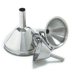 Norpro 3-Piece Stainless Steel Funnel Set