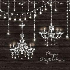 Chandeliers String Lights Vectors by Origins Digital Curio on Creative Market