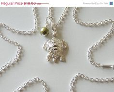 Turtle Charm Necklace Pearl Charm Necklace Charm by AlwaysCrafty77, $14.40