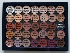 macisinfinite:  I had quite a few people ask me what the names of the colors were in my everyday palette, so here you go!