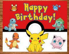 pokemon birthday sign red white pokemon happy birthday sign