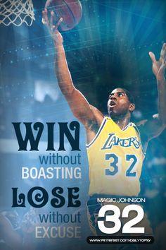 basketball quote | Magic Johnson talks about winning and losing.  #MagicJohnson #LALakers #NBA #basketballquotes
