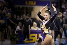 Pretty LSU gymnast Rheagan Courville Lsu Gymnastics, Gymnastics Posters, Gymnastics Pictures, Female Gymnast, Leotards, Ballet Dance, Olympics, Sexy Women, Wonder Woman