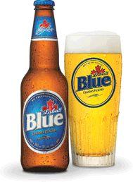 Labatt's blue, great beer but I've not have one in a long time. Labatt's bleu. C'est un manifique bier canadien.