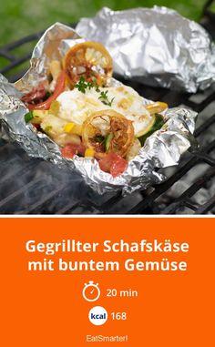 Gegrillter Schafskäse - mit buntem Gemüse - smarter - Kalorien: 168 kcal - Zeit: 20 Min. | eatsmarter.de