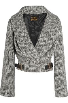 Vivienne Westwood Anglomania Hugger wool-blend herringbone tweed jacket