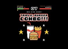 """""""Triple Burger Combo!!!"""" - Threadless.com - Best t-shirts in the world"""