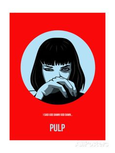 Film Wall Art - Painting - Pulp Fiction Poster by Naxart Studio Best Movie Posters, Cinema Posters, Movie Poster Art, Cool Posters, Film Posters, Print Poster, Kunst Poster, Fiction Movies, Illustration Mode