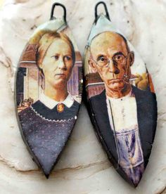 American Gothic Droppers by ScorchedEarthonEtsy on Etsy