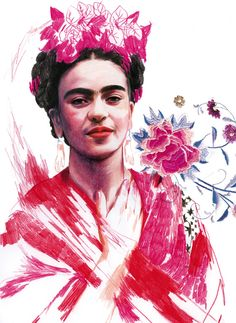Frida Khalo in Portraits of Cultural Icons by 80 of the World's Top Illustrators | Brain Pickings