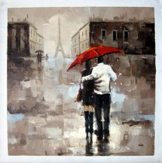 by - City Life - - Girl with Umbrella - Museum Quality Oil Painting on Canvas Art by Artseasy on Etsy Umbrella Painting, Rain Painting, Umbrella Art, Oil Painting On Canvas, Canvas Art, China Buy, Bedroom Pictures, Illustrations, Contemporary Artists