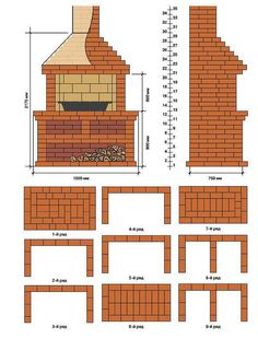 39 ideas for exterior brick design fireplaces Outdoor Bbq Kitchen, Outdoor Barbeque, Pizza Oven Outdoor, Outdoor Kitchen Design, Outdoor Fire, House Paint Exterior, Exterior House Colors, Exterior Design, Parrilla Exterior