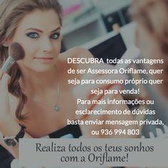 Quer saber tudo sobre o negócio Oriflame e saber como ganhar dinheiro etc?  contacte-nos em http://m.me/catalogo.oriflame.portugal