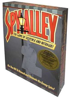 Spy Alley: Play as a spy from 1 of 6 countries and collect items. The first spy to collect all of their items and make it to their embassy without being revealed wins. However, if another player guesses your identity then you lose the game.
