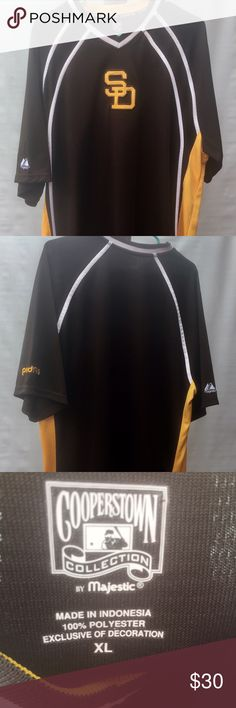 San Diego Padres Cooperstown Collection Jersey Cool San Diego Cooperstown Collection Pullover V Neck Jersey. This jersey is a Men's XL. It is in excellent condition with no flaws. Majestic Tops Tees - Short Sleeve